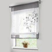 1pcs-Sheer-Liftable-Organza-Embroidered-Kitchen-Curtains-Roman-Window-ShadesGrey39x55-0
