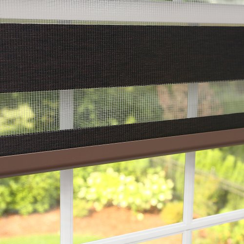 Best-Home-Fashion-Premium-Duo-Wood-Look-Roller-Window-Shade-Charcoal-33W-x-64L-0
