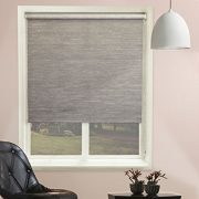 Chicology-Roller-Shade-Clutch-Lift-System-Continous-Loop-Privacy-Fabric-Candyfloss-Coal-Grey-23x64-0