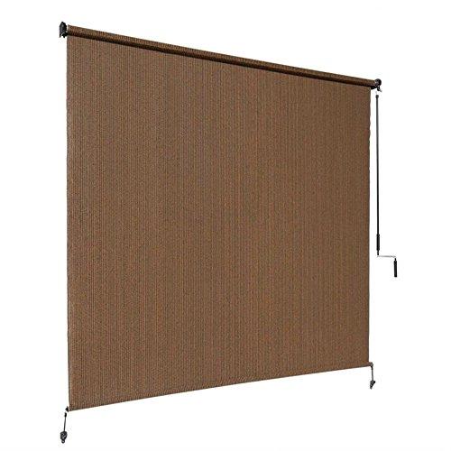 Coolaroo-Select-Exterior-Cordless-Roller-Shade-4ft-x-6ft-Mocha-0