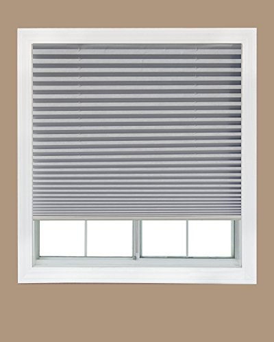 Easy-Lift-Trim-at-Home-Cordless-Pleated-Light-Filtering-Fabric-Shade-White-36-in-x-64-in-Fits-windows-19-36-0