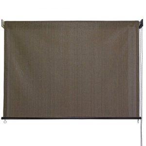 Keystone-Fabrics-Exterior-Roller-Shade-6-Feet-by-6-Feet-Cabo-Sand-0