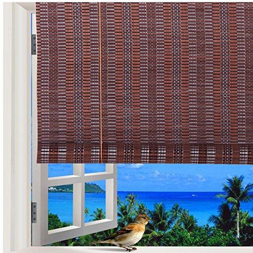 Natural-Bamboo-Roll-Up-Window-Blind-Roman-Sun-Shade-WB-48N1-W30-X-H72-0