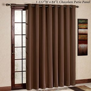 RHF-Thermal-Insulated-Blackout-Patio-door-Curtain-Panel-Sliding-door-curtains-Wide-curtains-100W-by-84L-Inches-Chocolate-0
