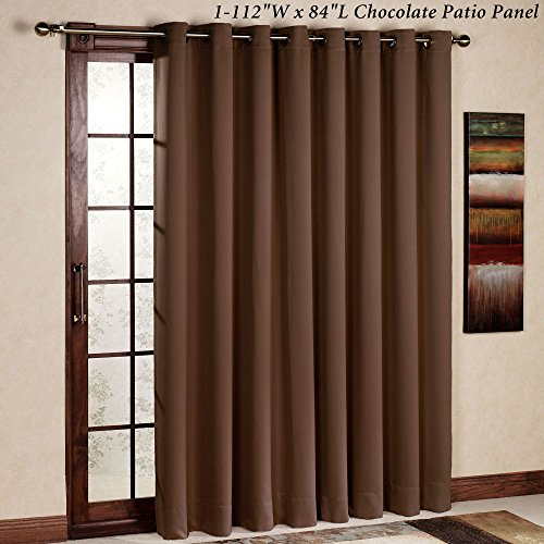 rhf thermal insulated blackout patio door curtain panel