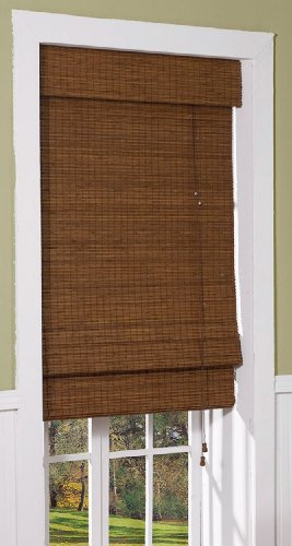 Radiance 0216200 cape cod bamboo roman shade 23 inch wide for Roman shades for wide windows