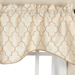 Stylemaster-Hudson-52-by-17-Inch-Embroidered-Lined-Valance-with-Cording-Vanilla-0
