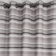 VIVOHOME-Window-Treatment-Printed-Thermal-Insulated-Curtain-One-Panel-with-Grommets-White-with-Gray-Stripes-5518Wx8858L-Inch-0-0