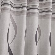 VIVOHOME-Window-Treatment-Printed-Thermal-Insulated-Curtain-One-Panel-with-Grommets-White-with-Gray-Stripes-5518Wx8858L-Inch-0-1