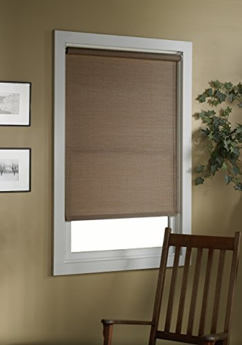 Green Mountain Vista Deluxe Woven Cane Paper Roller Shade, 24 by 72-Inch, Cocoa