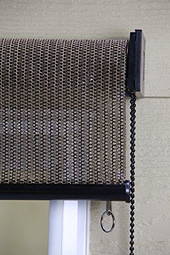 Keystone Fabrics Exterior Roller Shade 6 Feet By 6 Feet Cabo Sand Prestige Window Fashions