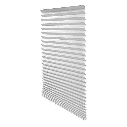 Quick Fix Light Filtering Pleated Fabric Shade White, 36″ x 72″